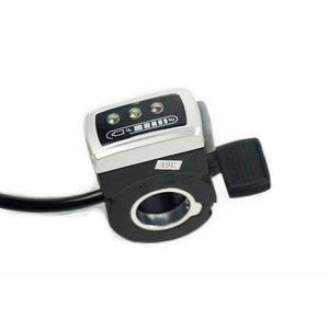 Duimgashendel met FWD/REV schakelaar 0-5V en batterij indicatie voor 24V DC Controller