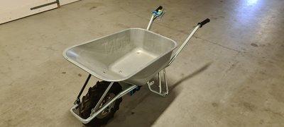 GEBRUIKT Elektrische kruiwagen E-PowerBarrow UV Lithium 100l stalen bak
